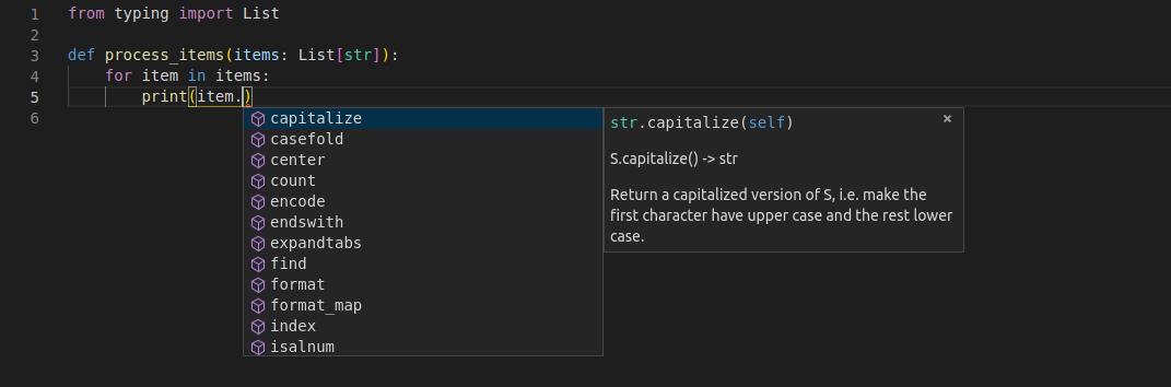 Python types intro - FastAPI