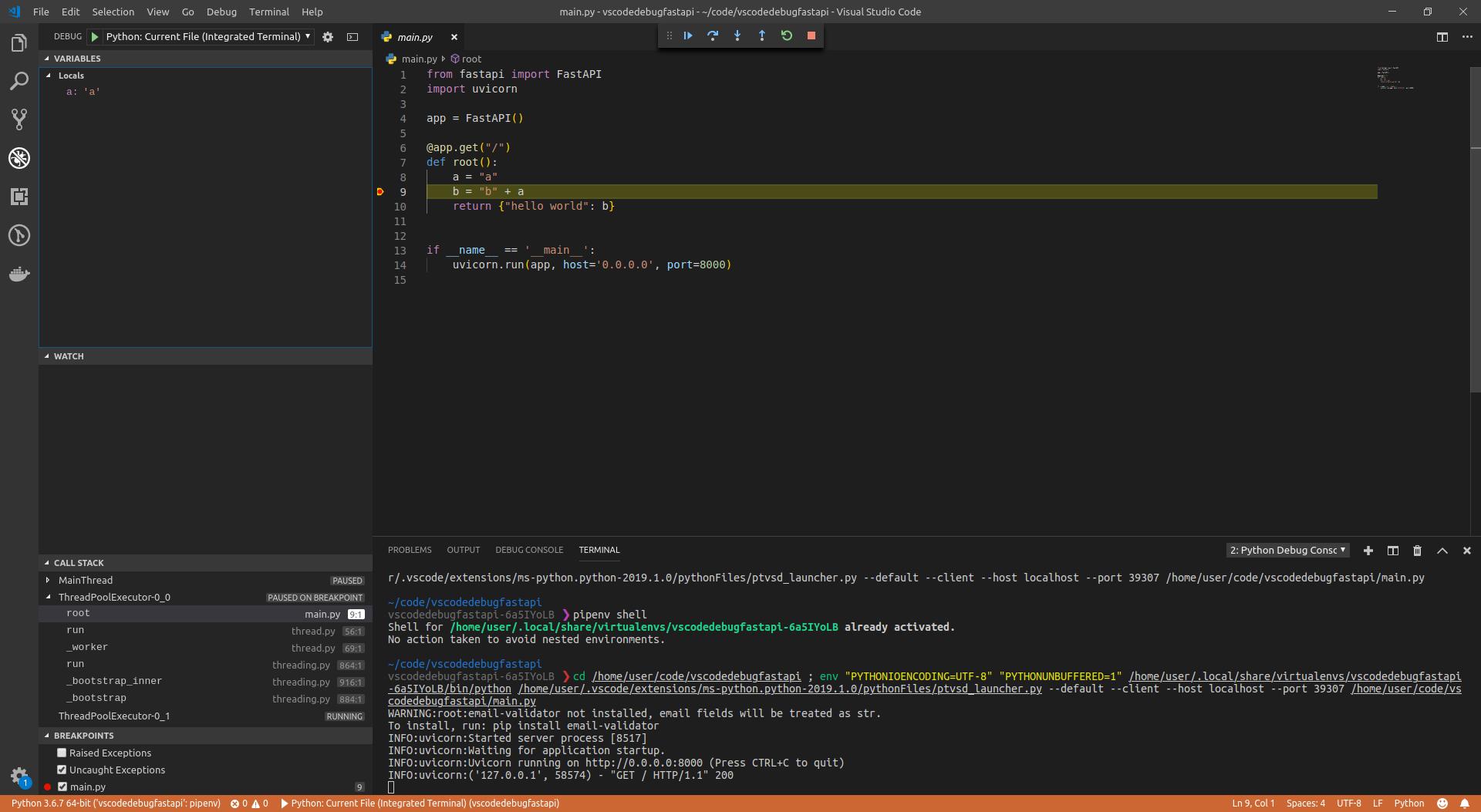 visual studio code python vs pycharm
