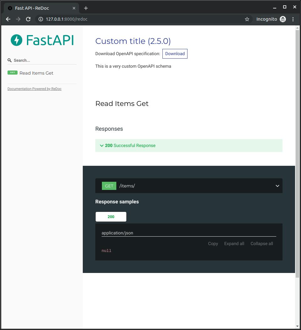 Extending OpenAPI - FastAPI